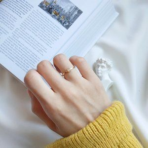 18K Goldplated Sterling Silver 925 Ring